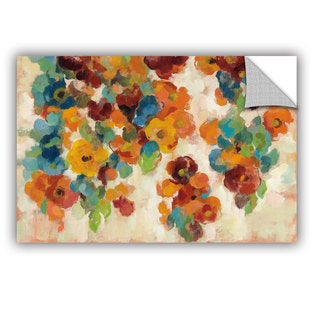 ArtAppealz Silvia Vassileva's 'Spice and Turquoise Florals' Removable Wall Art Mural
