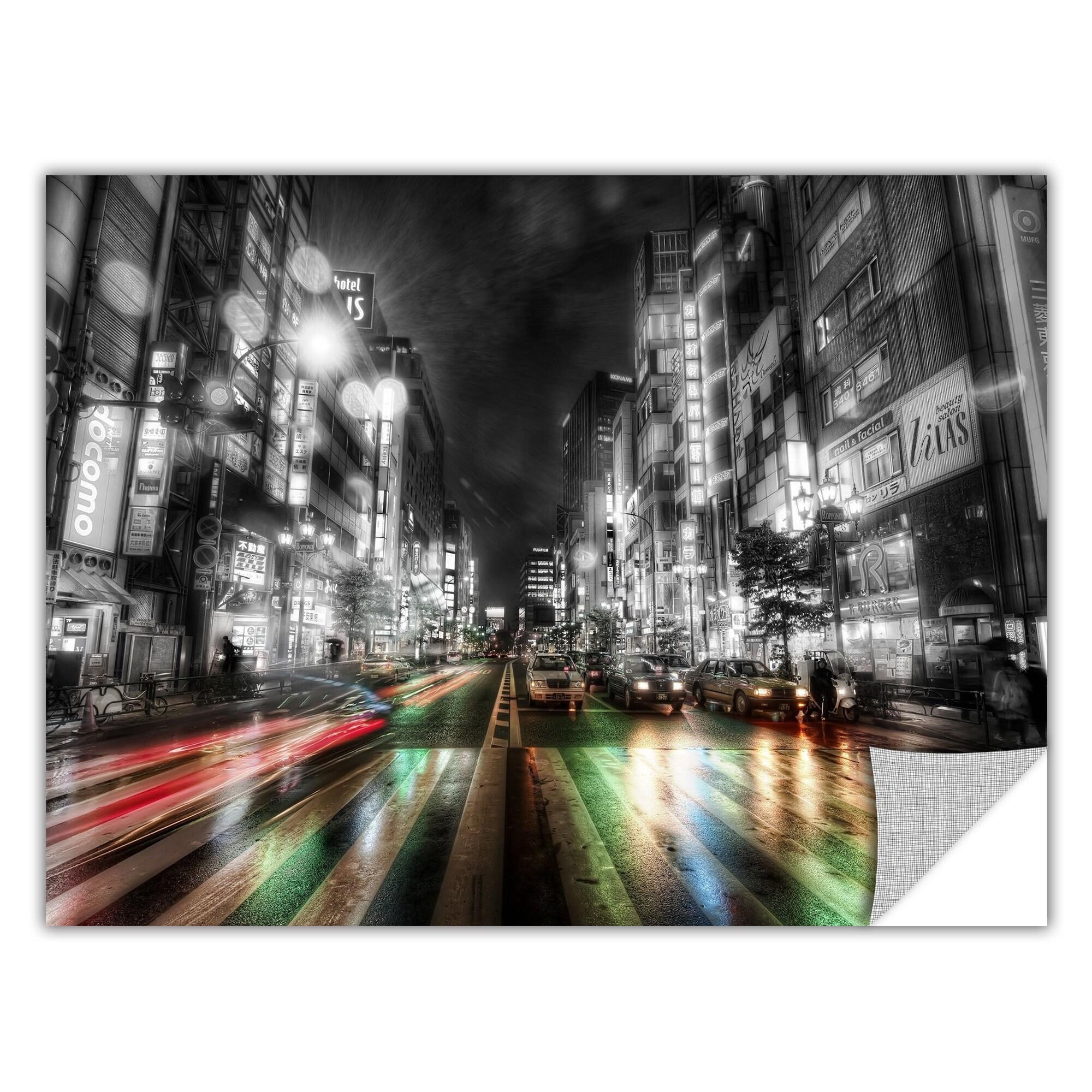Artappealz Revolver Ocelot S Tokyo Night Removable Wall Art Mural Overstock 13547519
