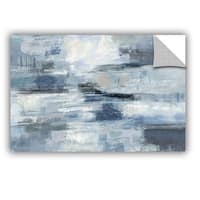 ArtAppealz Silvia Vassileva's 'Clear Water Indigo and Gray' Removable Wall Art Mural