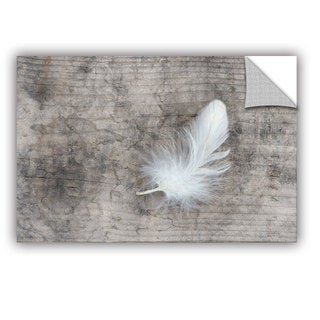 ArtAppealz Sagebrush Cora Niele's 'White Feather' Removable Wall Art Mural (As Is Item)