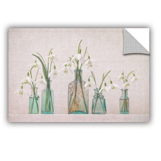 ArtAppealz Sagebrush Cora Niele's 'Snowdrops Bottles' Removable Wall Art Mural