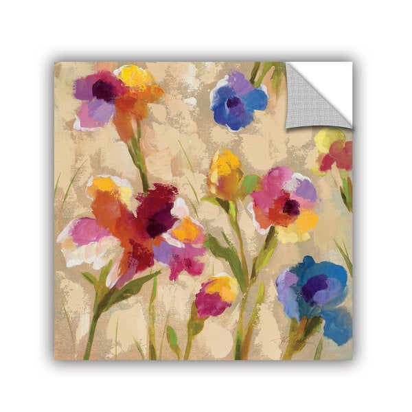 ArtAppealz Silvia Vassileva's 'Bold Bright Flowers II' Removable Wall Art Mural