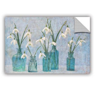 ArtAppealz Sagebrush Cora Niele's 'Snowdrops' Removable Wall Art Mural|https://ak1.ostkcdn.com/images/products/13547605/P20226294.jpg?impolicy=medium