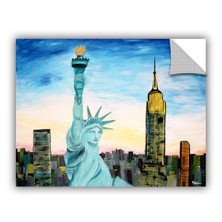 ArtAppealz Marcus/Martina Bleichner's 'Statue of Liberty with view of Mew York ' Removable Wall Art Mural