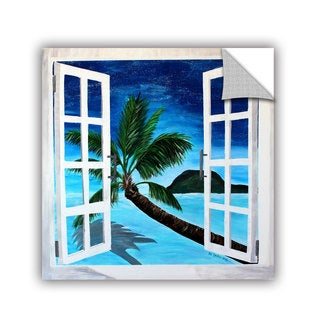 ArtAppealz Marcus/Martina Bleichner's 'Palm View Window' Removable Wall Art Mural