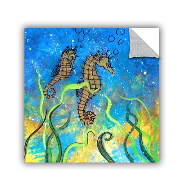 ArtAppealz Herb Dickinson's 'Seahorse Muse I' Removable Wall Art Mural