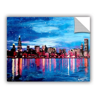 ArtAppealz Marcus/Martina Bleichner's 'Chicago Skyline at Dusk' Removable Wall Art Mural