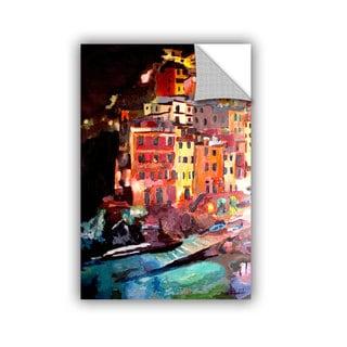 ArtAppealz Marcus/Martina Bleichner's 'Magic Cinque Terre Night Riomaggiore' Removable Wall Art Mural