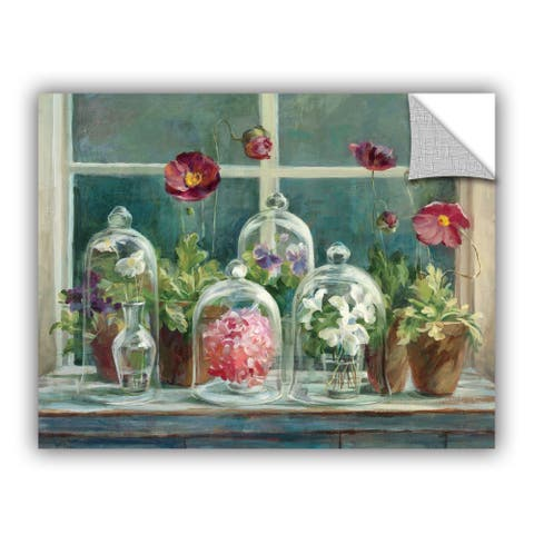 ArtAppealz Danhui Nai's 'Purple Poppies Windowsill' Removable Wall Art Mural