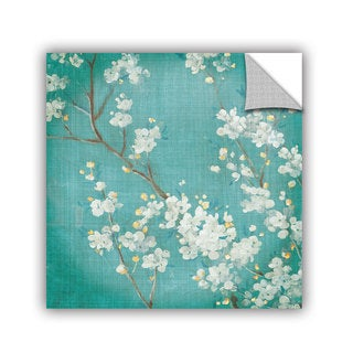 ArtAppealz Danhui Nai's 'White Cherry Blossoms II' Removable Wall Art Mural