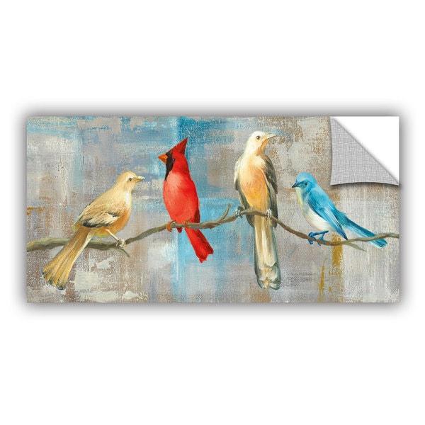 ArtAppealz Danhui Nai's 'Bird Gossip' Removable Wall Art Mural