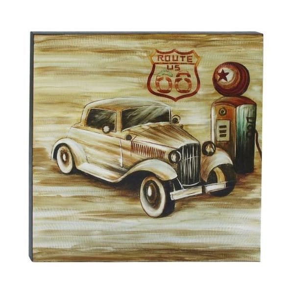 Eclectic 40 x 40 inch Vintage Car on Canvas Wall Art by Studio 350 ...