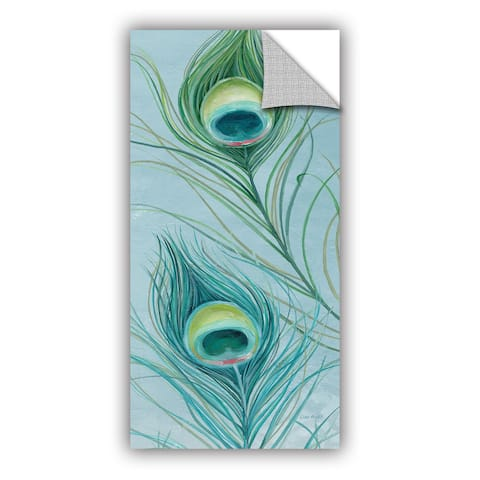 ArtAppealz Lisa Audit's 'Blue Feathered Peacock IV' Removable Wall Art Mural