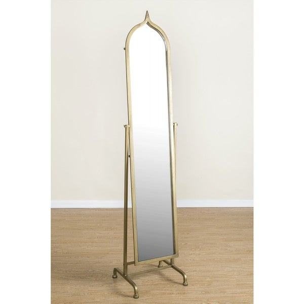 Shop Betty Standing Mirror with Goldtone Frame - Free Shipping Today ...