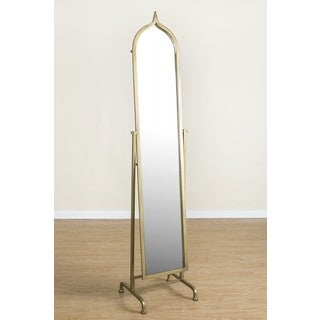 Betty Standing Mirror with Goldtone Frame