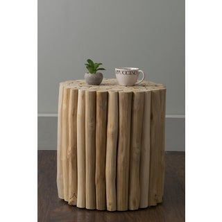 East At Main's Nason Brown Teakwood Stool