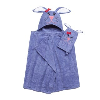 Tub Time for Tots Bunny 2-piece Bath Wrap Set
