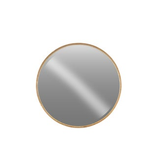 Urban Trends Collection Rose-gold Metal Antique-finished Tarnished Large Round Wall Mirror
