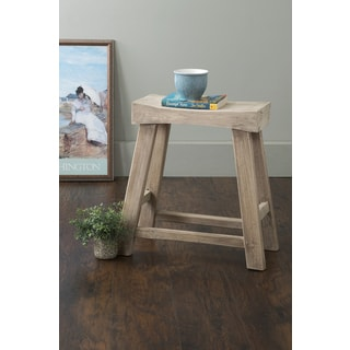 East At Main's Bennett Brown Rubberwood Stool