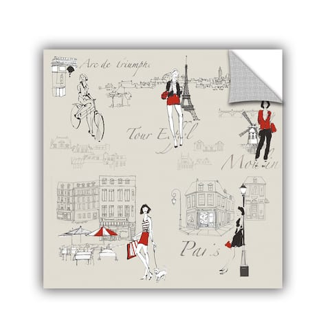 ArtAppealz Avery Tillmon's 'French Chic V' Removable Wall Art Mural
