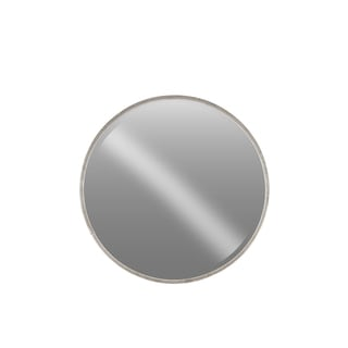 Urban Trends Collection LG Tarnished Finish Antique Silver Metal Round Wall Mirror