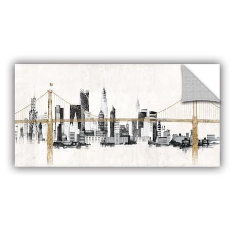 ArtAppealz Avery Tillmon's 'Bridge and Skyline' Removable Wall Art Mural