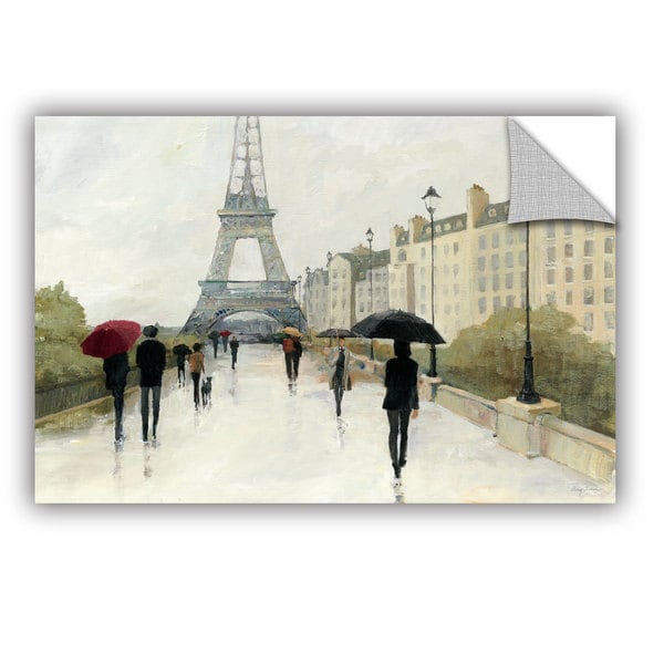 ArtAppealz Avery Tillmon's 'Eiffel In The Rain Marsala Umbrella' Removable Wall Art Mural