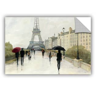 ArtAppealz Avery Tillmon's 'Eiffel In The Rain Marsala Umbrella' Removable Wall Art Mural|https://ak1.ostkcdn.com/images/products/13548053/P20226755.jpg?impolicy=medium