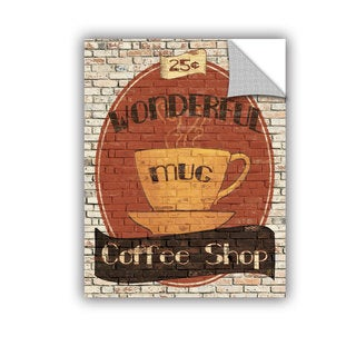 ArtAppealz Avery Tillmon's 'Wonderful Coffee Shop' Removable Wall Art Mural