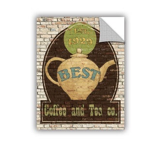 ArtAppealz Avery Tillmon's 'Best Coffee And Tea' Removable Wall Art Mural
