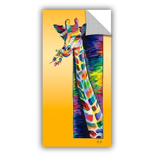 ArtAppealz Linzi Lynn's 'Giraffe Eating' Removable Wall Art Mural