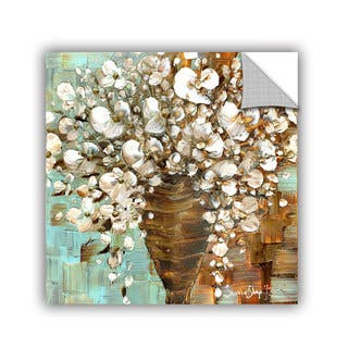 ArtAppealz Susanna Shaposhnikova's 'White Bouquet' Removable Wall Art Mural|https://ak1.ostkcdn.com/images/products/13548077/P20226804.jpg?impolicy=medium