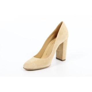 Versace 1969 V Italia Beige Chunky Heel