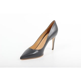 Versace 1969 V Italia Decollete Grey Leather Pumps