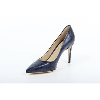 Versace 1969 V Italia Decollete Blue Leather Pumps