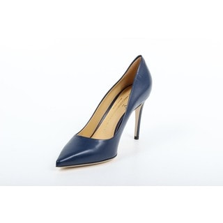 1969 V Italia Decollete Denim Blue Leather Pumps