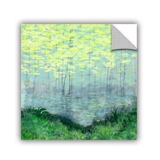 ArtAppealz Herb Dickinson's 'Misty Lake Morning' Removable Wall Art Mural