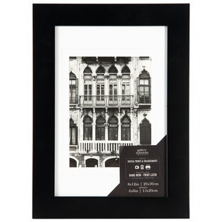 Wide Flat Black Wall Frame