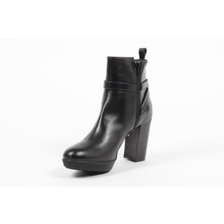 Versace 1969 V Italia Leather Ankle Boot