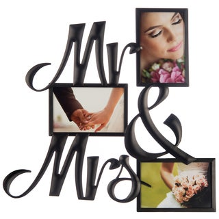 """Gallery Solutions Venetian Copper """"Mr. & Mrs."""" Collage Frame"""