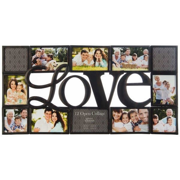 "Gallery Solutions Black ""Love"" Collage Frame. Opens flyout."