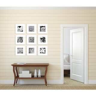 Gallery Perfect 9 Piece White Frame Kit