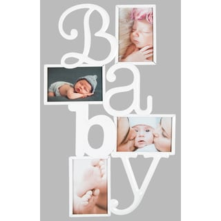 """Gallery Solutions White """"Baby"""" Collage Frame"""