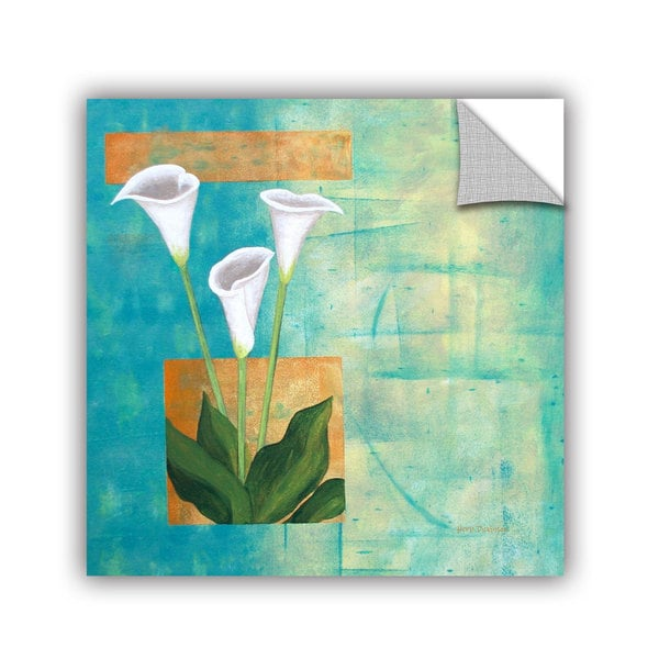 ArtAppealz Herb Dickinson's 'Floral White (flowers)' Removable Wall Art Mural