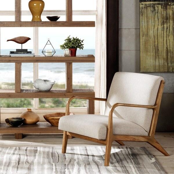 INK+IVY Novak Cream/ Natural Lounge Chair