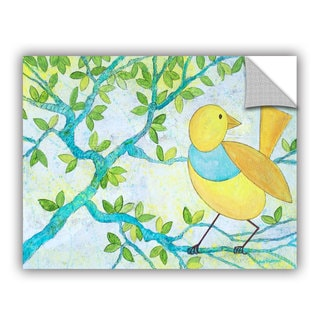 ArtAppealz Herb Dickinson's 'Floral White (Bird)' Removable Wall Art Mural