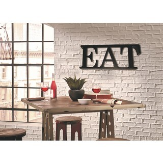 Trekshops Black Steel 'EAT' Profession/Commercial Block Letters Sign