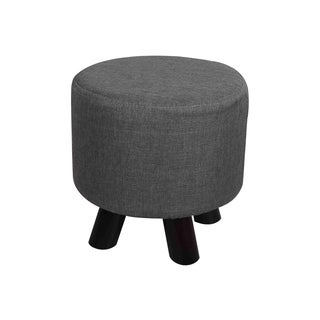 Fargo Grey/Beige Polyester Foot Stool