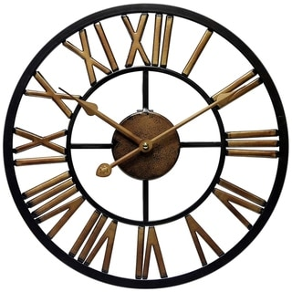 Link to Micro Fusion Metal Roman Numeral Open Face 13.75 inch Wall Clock by Infinity Instruments Similar Items in Decorative Accessories