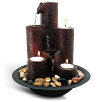 SereneLife SLTWF20 Water Fountain  Relaxing Tabletop Water Feature Decoration
